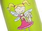 Sigikid Kinder Trinkflasche 0,4 l, Motiv: Florentine, Grasgrün/Pink - 5