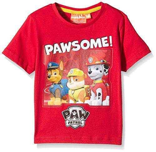 nickelodeon-t-shirt-manches-courtes-garcon-rouge-5-ans