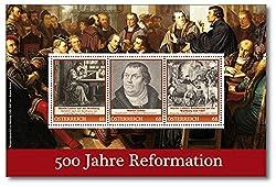 500 Jahre Reformation   Martin Luther  Österreich  Briefmarken-Block  exklusiv bei Hermann E. Sieger