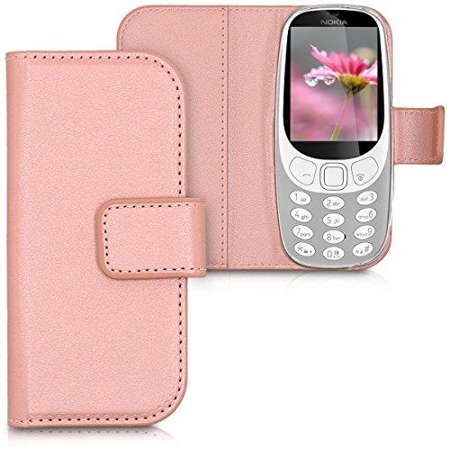 kwmobile Nokia 3310 (2017) Hülle - Kunstleder Wallet Case für Nokia 3310 (2017) mit Kartenfächern und Stand