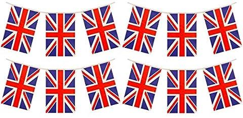 3 x Paquets qualité Drapeau Du Royaume Uni Bruant Décorations Total 36 Pied 33 Drapeaux