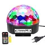SOLMORE 18W 220V Lampe de Scène RGB LED 9 Couleurs Commande Sonore avec...