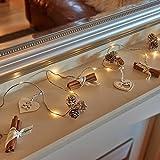 Auraglow Set von 15 duftenden Zimt Tannenzapfen Batteriebetriebene Indoor Weihnachten LED festliche Lichterketten