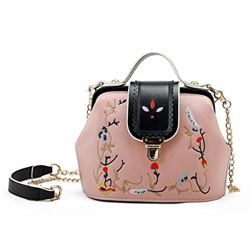 frauen-mode-nieten-damen-schulter messenger-tasche Rosa