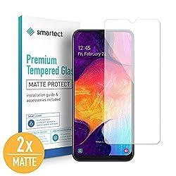 smartect Mattes Panzerglas kompatibel mit Samsung Galaxy A50 [2X MATT] - Displayschutz mit 9H Härte - Blasenfreie Schutzfolie - Anti Fingerprint Panzerglasfolie