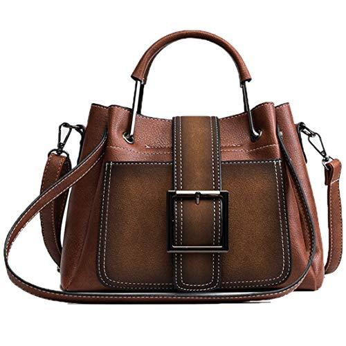 Fell Satchel Handtasche (Menran Damen Handtasche Leder Umhängetasche Großraum Henkeltasche Wasserdicht Verschleißfest Umhänge Taschen Vintage Tragetaschen)