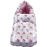 KiddosCare 2 in 1 Baby Bed Cum Bedding Set Baby Carrier (Pink, 64x41x12 cms)