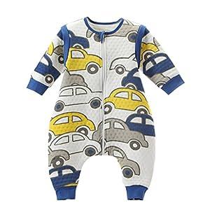 Bebé Saco de dormir Con Cremallera Piernas Separadas Mangas extraíbles,Carros M