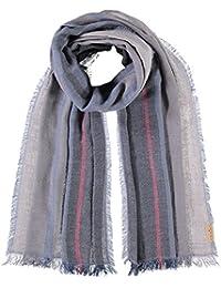 FRAAS Men's Striped Scarf Blue denim One Size (Manufacturer's Size: os)