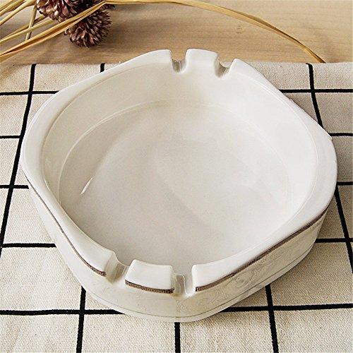 Preisvergleich Produktbild Keramik Haushalt Produkte Couchtisch Esstisch weiß einfache Aschenbecher, 12,4 * 3.8CM