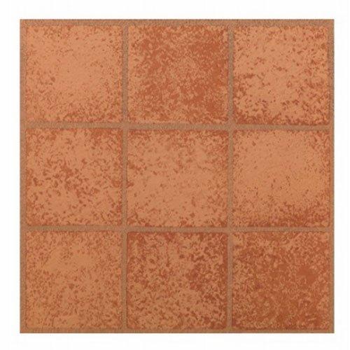 Max Kd0203 Crimson carrés Décollez et Appliquez carrelage de sol en vinyle, 30,5 x 30,5 cm