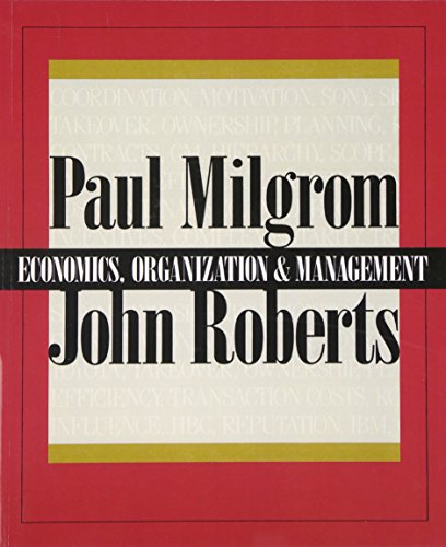 Economics, Organization and Management: United States Edition