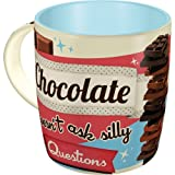 Nostalgic-Art 43016 Say it 50's - Chocolate Doesn't Ask | Retro Tasse mit Sprüchen | Kaffee-Becher | Geschenk-Tasse | Vintage