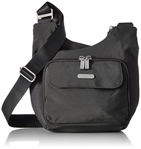 Baggallini Criss Cross Sac bandoulière, Gris (Luggage Baggallini)