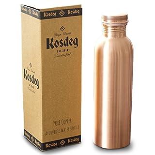 Kosdeg Kupfer-Wasserflasche, 34 oz, extra groß