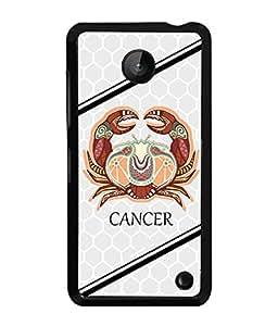 PrintVisa Metal Printed Cancer Designer Back Case Cover for Nokia Lumia 630-D5012