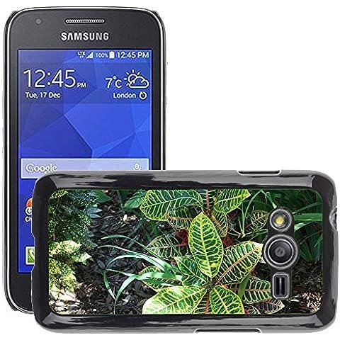Etui Housse Coque de Protection Cover Rigide pour // M00307927 Planta Follaje Naturaleza Green Sun // Samsung Galaxy Ace4 / Galaxy Ace 4 LTE /