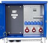 as - Schwabe Baustromverteiler SVEV 4 CEE-Stromverteiler für Baustelle, Aussen und Outdoor, IP44, 16A, 32A, 63A, 1 Stück, blau, 61143