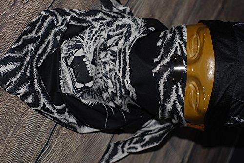 Original Rock Metall Schal mit einem Clip auf -