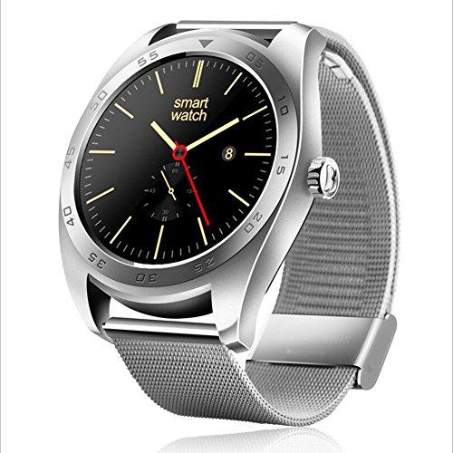 Human K89 Intelligente Uhr Bluetooth Sport Schrittzähler Telefon Informationen Wecker Erinnerung Wasserdichte Uhr,Silver