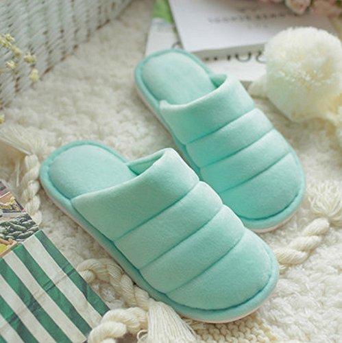 Automne et hiver pantoufles de coton femme intérieur à l'intérieur garder chaud épais base antidérapant chaussons hiver ( couleur : # 1 , taille : 36-37 ) # 1