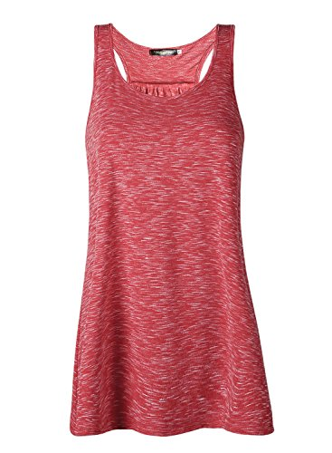 Damen Tank Top Sommer Sports Shirts Oberteile Frauen Baumwolle Lose Ärmellos for Yoga Jogging Laufen Workout-rd-XL (Chemische-mix-tanks)