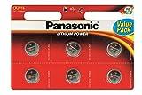 6 x Panasonic CR2016 3V Lithium Batterien