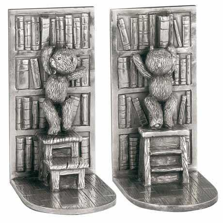 Royal Selangor Hand Finished Teddy Bear's Picnic Collection Pewter Library Book Ends
