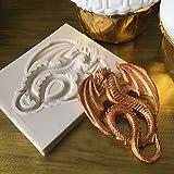 IDEA HIGH 1 STÜCKE Drachen silikonform fondantform Kuchen dekorieren Tools Kuchen Süßigkeiten Machen Schokolade zuckermasse Mold