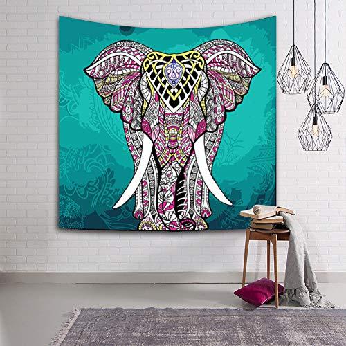 ZYBC Tapicería Elefante Tapiz Hippie Mandala Bohemio Playa Dormitorio Decoración De La Pared (HMKCEFT3,S)