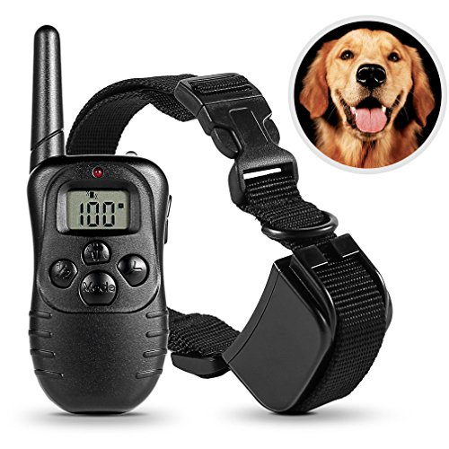 dog-training-collardpower-rechargeable-and-waterproof-pet-dog-trainer-with-lcd-display-uk-plug-300-m