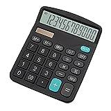 calculatrice, YEBMoo calculatrice de bureau 12 chiffres Grand écran électronique calculatrice solaire (Calculator-black)