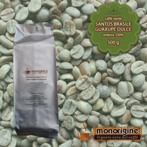 Caffè Verde in Grani Santos Brasile Guaxupè Dulce 500 gr - Caffè Monorigine Arabica 100%