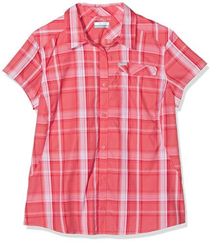 Columbia Silver Ridge 2.0 Plaid Shorts Sleeve Damen Hemd, Coral Bloom Lar, XL