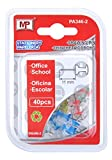 MP PA346-2 - Pack de 40 chinchetas corcho, transparente