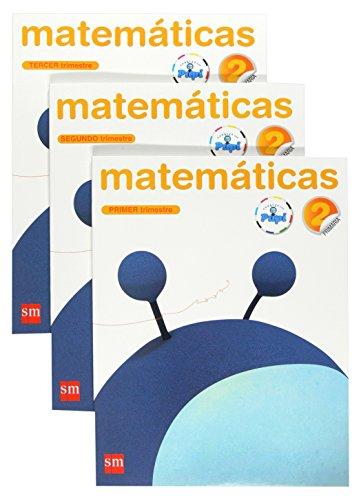 Matemáticas. 2 Primaria. Conecta con Pupi. 3 Trimestres - 9788467546477