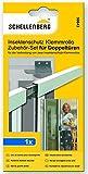 Schellenberg 50843 - Persianas encajables con protección anti insectos para puertas dobles (kit de accesorios)