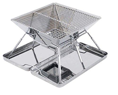 Im Freienpicknick-Edelstahl-zusammenklappbarer beweglicher Grill BBQ-Grill Kohlenstoff-Ofen , 35*35*21.5cm