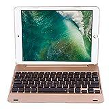 VBESTLIFE Bluetooth 3.0 Tastatur mit Hülle,34H Arbeit Auto Schlaf Wireless Tastatur für iPad Pro 9.7 / Air2(Gold)