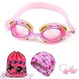 CZ-XING Kid Schnorchel Set Silikon Scuba Kind Schwimmen Schwimmen Schnorcheln Maske Brille mit Anti Nebel Schutzbrille Tauchen, Gap Ohrstöpsel Schwimmen Tasche für Jungen und Mädchen, a