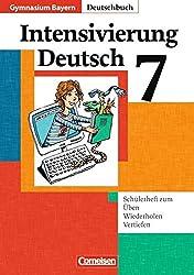 Deutschbuch Gymnasium - Bayern: 7. Jahrgangsstufe - Intensivierung Deutsch: Schülerheft mit Lösungen