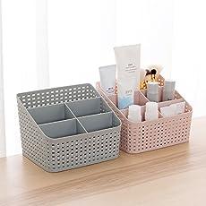 Goank Plastic Makeup Storage Box (Multicolour) - Pack of 2