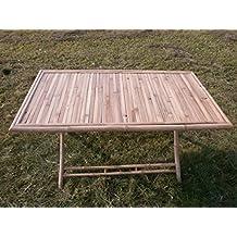 Mesa de jardín, bambú mesa, mesa plegable, mesa de madera