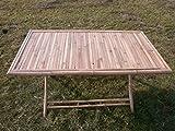 kien Gartentisch,Klapptisch,Terrassentisch,Holztisch,Bambustisch,Anrichte