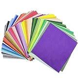 WSKTOP Filz Stoff,Filz Blätter 60 Farben Polyester Filzplatten filz stoff zum nähen,Künstler- & Bastelbedarf,5.9*5.9inch (60Pcs)