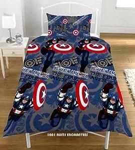 Parure de lit housse de couette + taie Captain America