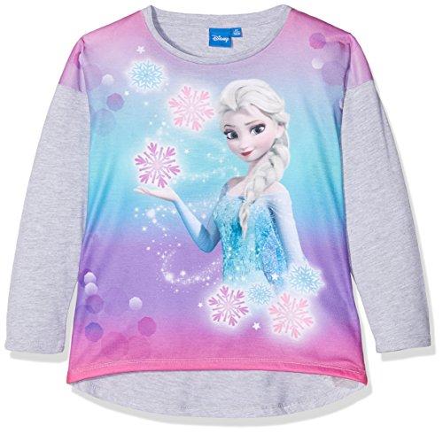 Disney Die Eiskönigin Elsa & Anna Mädchen Langarmshirt - grau - 116