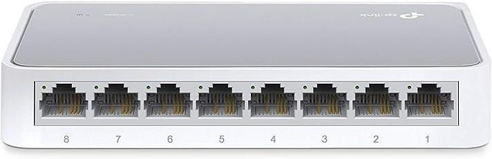 TP-Link TL-SF1008D 8-Port 10/100Mbps Desktop Switch (White/Grey)