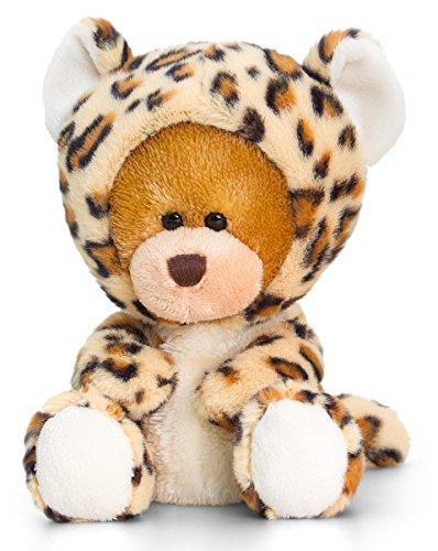 Bär, Pipp The Bear mit Leoparden Kostüm, Kuscheltier Schmusebär ca. 14 cm (Kuscheltier Kostüme)