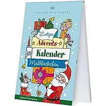 Lustiges Adventskalender Malblöckchen: Adventskalenderblöckchen (Spieleblöckchen)